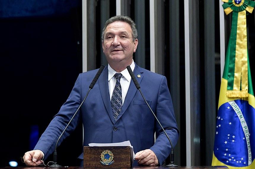 Plenário do Senado Federal durante sessão deliberativa ordinária.   Em discurso, à tribuna, senador Lucas Barreto (PSD-AP).  Foto: Waldemir Barreto/Agência Senado
