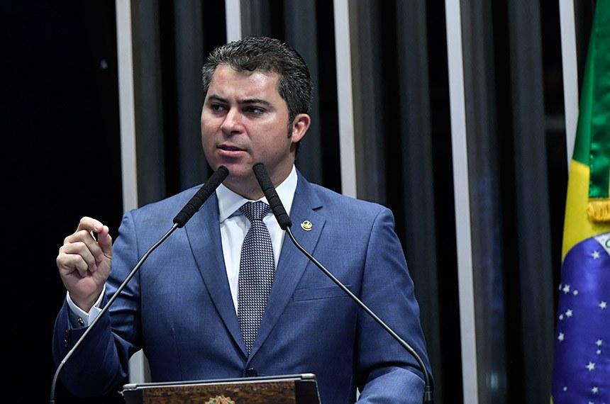Plenário do Senado Federal durante sessão deliberativa ordinária.   Em discurso, à tribuna, senador Marcos Rogério (DEM-RO).  Foto: Geraldo Magela/Agência Senado