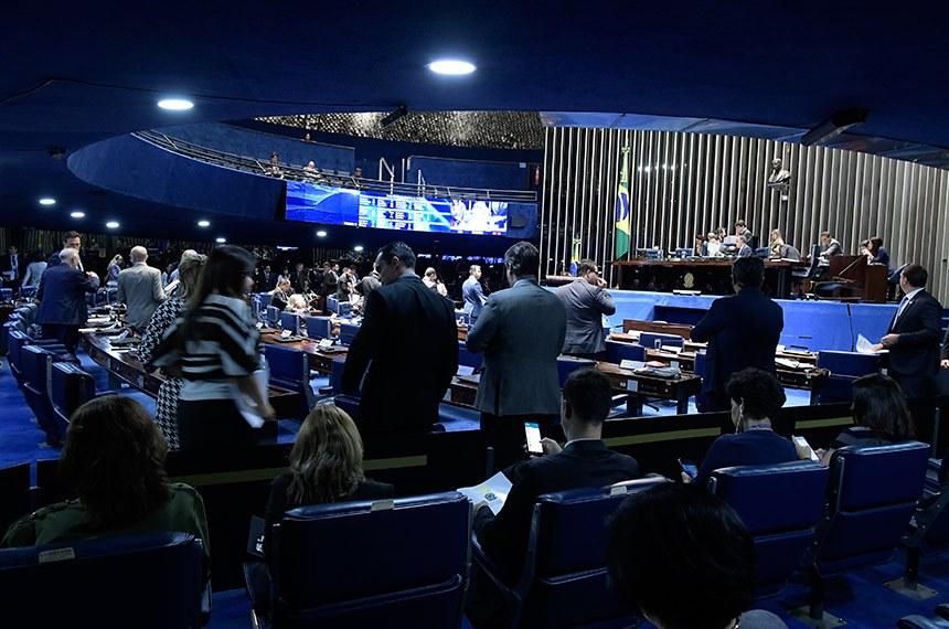 Plenário do Senado Federal durante sessão deliberativa ordinária. Ordem do dia.  Foto: Waldemir Barreto/Agência Senado