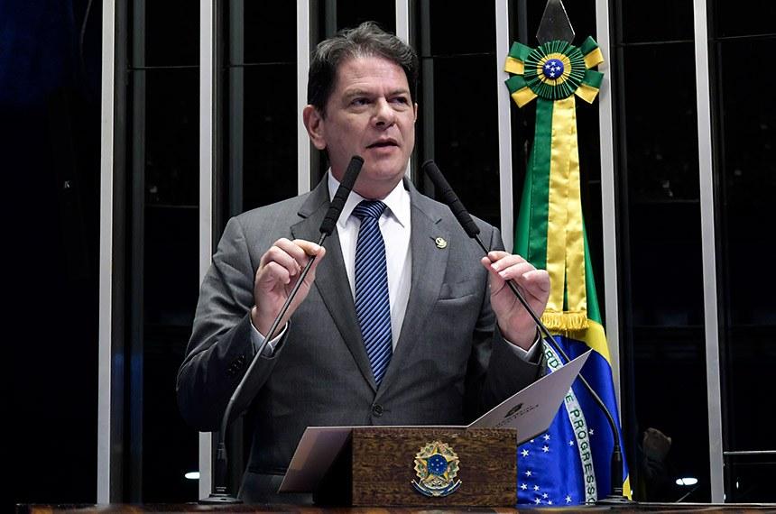 Plenário do Senado Federal durante sessão deliberativa ordinária.   Em discurso, à tribuna, senador Cid Gomes (PDT-CE).  Foto: Waldemir Barreto/Agência Senado