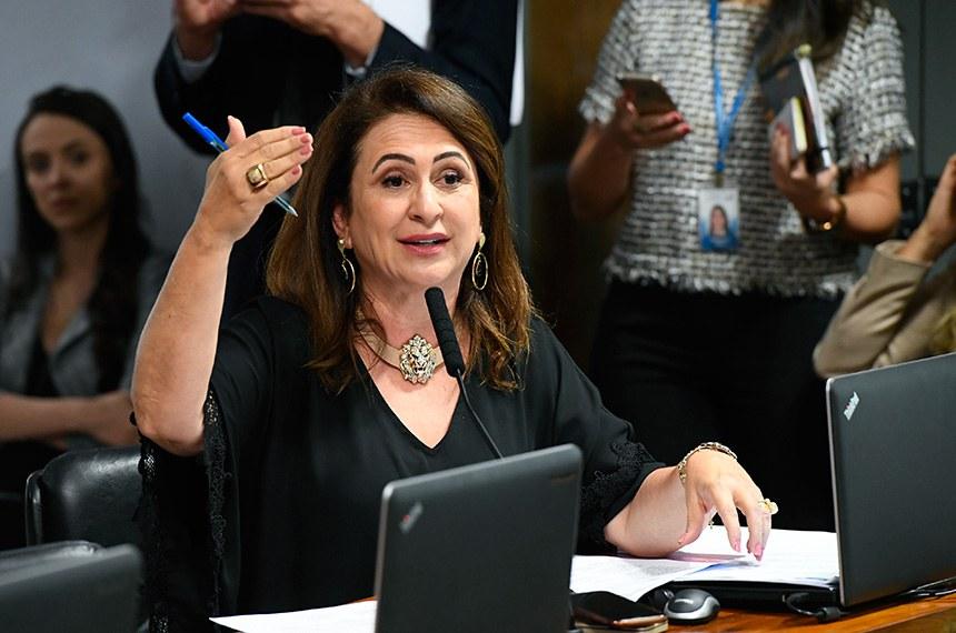 Comissão de Assuntos Econômicos (CAE) realiza reunião deliberativa com 11 itens. Entre eles, o PLC 219/2015, que atualiza o marco legal das franquias.   À bancada, em pronunciamento, senadora Kátia Abreu (PDT-TO).  Foto: Marcos Oliveira/Agência Senado