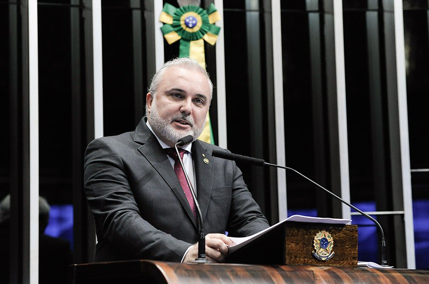 Plenário do Senado Federal durante sessão deliberativa ordinária.   Em discurso, senador Jean Paul Prates (PT-RN).  Foto: Jane de Araújo/Agência Senado