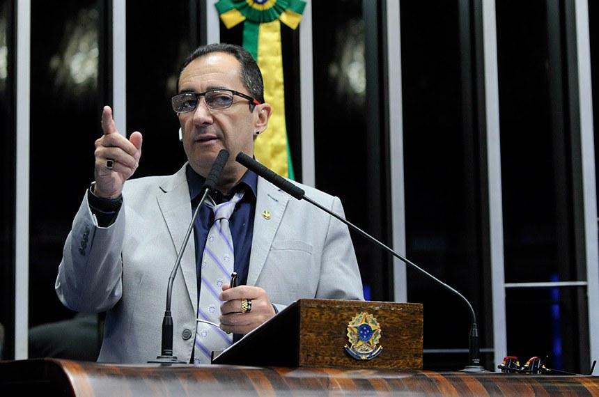 Plenário do Senado Federal durante sessão deliberativa ordinária.   Em discurso, senador Jorge Kajuru (PSB-GO).  Foto: Jane de Araújo/Agência Senado