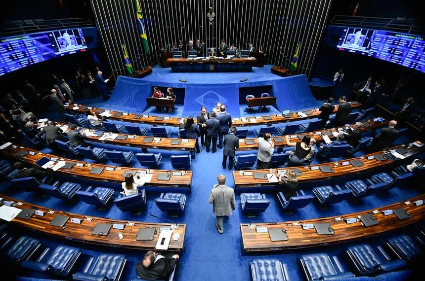 Plenário do Senado Federal durante sessão deliberativa ordinária. Ordem do dia. Vice-presidente do Senado Federal, senador Antonio Anastasia (PSDB-MG) à mesa conduz sessão. Foto: Marcos Oliveira/Agência Senado