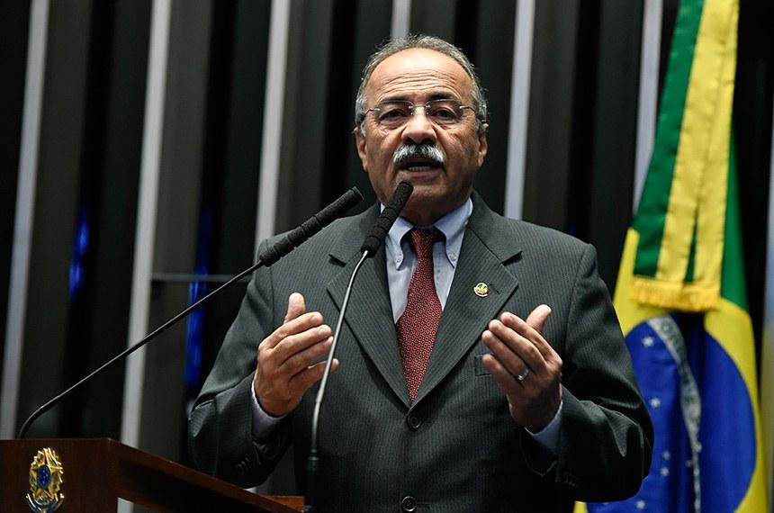 Plenário do Senado Federal durante sessão não deliberativa.   Em discurso. senador Chico Rodrigues (DEM-RR).  Foto: Edilson Rodrigues/Agência Senado