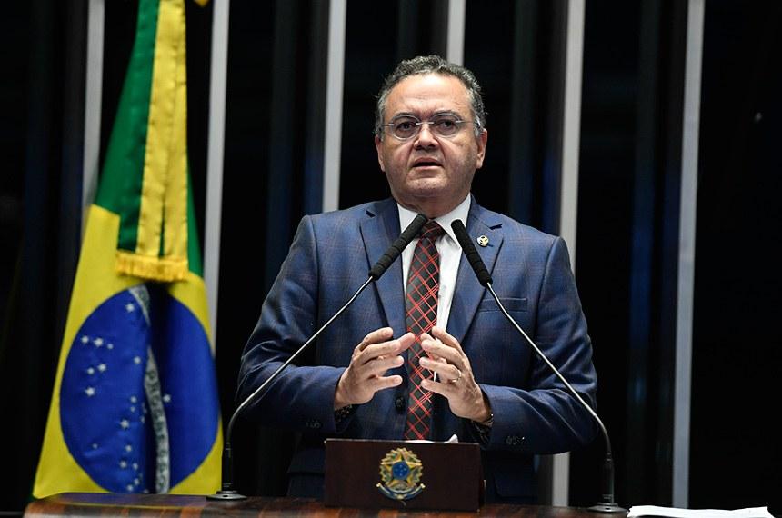 Plenário do Senado Federal durante sessão não deliberativa.   À tribuna, em discurso, senador Roberto Rocha (PSDB-MA).  Foto: Edilson Rodrigues/Agência Senado