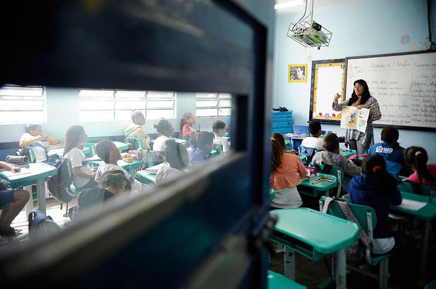 BIE- Banco de imagens externas. MPs fiscalizam escolas públicas do país para averiguar as instalações e o atendimento às crianças. Na foto, a Escola Municipal Professor Helena Lopes Abranches, em Gardênia Azul.