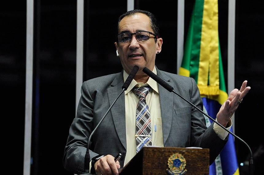 Plenário do Senado Federal durante sessão não deliberativa.   Em discurso, à tribuna, senador Jorge Kajuru (PSB-GO).  Foto: Roque de Sá/Agência Senado