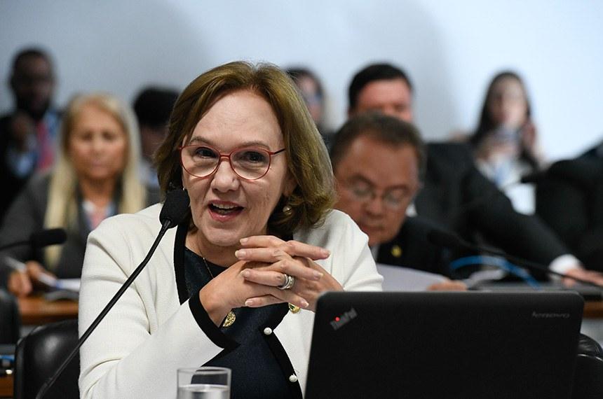 Comissão de Desenvolvimento Regional e Turismo (CDR) realiza reunião deliberativa com 11 itens, entre eles, o PLC 34/2018, que exige adequação ambiental para casas populares.  Em pronunciamento, senadora Zenaide Maia (Pros-RN).  Foto: Edilson Rodrigues/Agência Senado