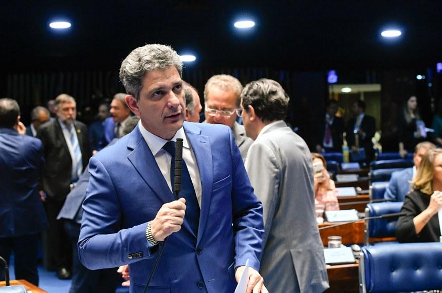 Plenário do Senado Federal durante sessão deliberativa ordinária. Ordem do dia.   Em pronunciamento, senador Rogério Carvalho Santos (PT-SE).  Foto: Marcos Oliveira/Agência Senado