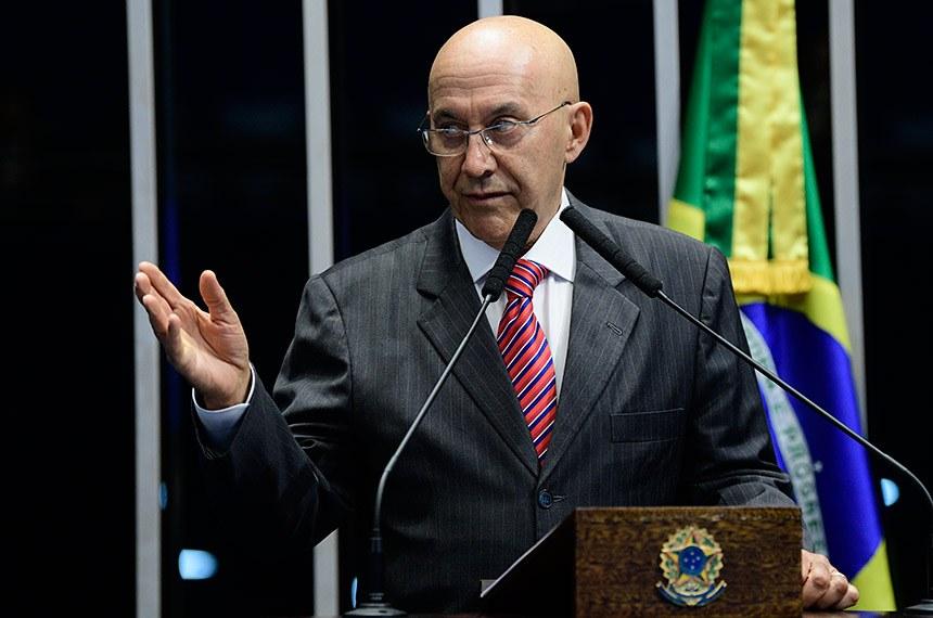 Plenário do Senado Federal durante sessão deliberativa ordinária.   Em discurso, senador Confúcio Moura (MDB-RO).  Foto: Pedro França/Agência Senado
