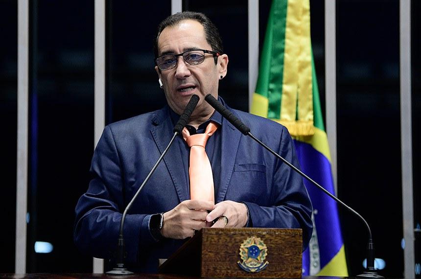 Plenário do Senado Federal durante sessão deliberativa ordinária.   À tribuna, em discurso, senador Jorge Kajuru (PSB-GO).  Foto: Pedro França/Agência Senado