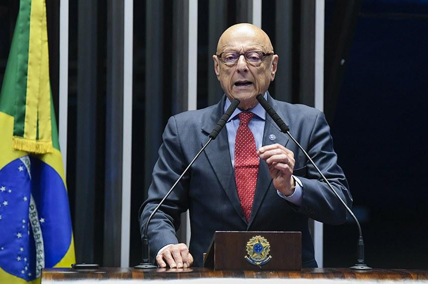 Plenário do Senado Federal durante sessão não deliberativa extraordinária.   À tribuna, em discurso, senador Esperidião Amin (PP-SC).  Foto: Roque de Sá/Agência Senado