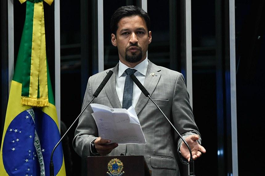 Plenário do Senado Federal durante sessão não deliberativa extraordinária.   À tribuna, em discurso, senador Rodrigo Cunha (PSDB-AL).  Foto: Roque de Sá/Agência Senado
