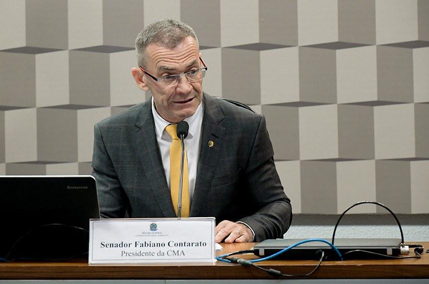 Presidente da CMA, senador Fabiano Contarato, programou série de audiências públicas em junho, para maracar a passagem do Dia Internacional do Meio Ambiente, no dia 5 do mês