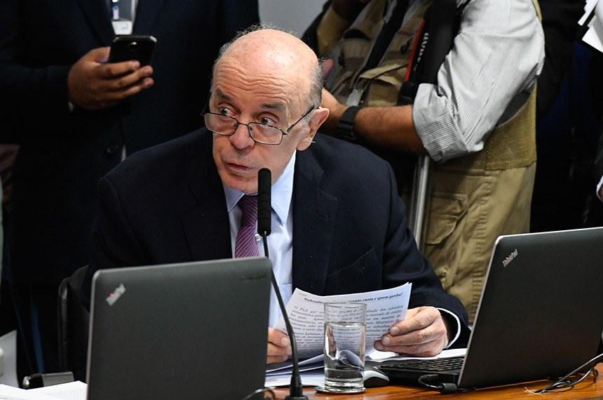 De acordo com o senador José Serra, autor do projeto, se a proposta for aprovada até julho, pode evitar que estados e Distrito Federal percam cerca de R$ 30 bilhões