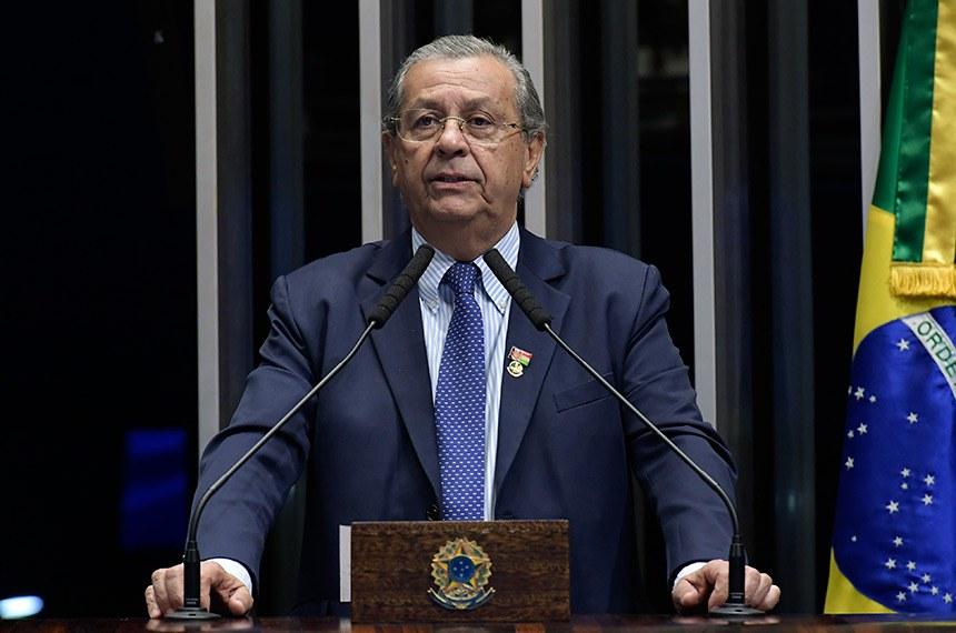 Plenário do Senado Federal durante sessão deliberativa ordinária.   Em discurso, à tribuna, senador Jayme Campos (DEM-MT).   Foto: Waldemir Barreto/Agência Senado