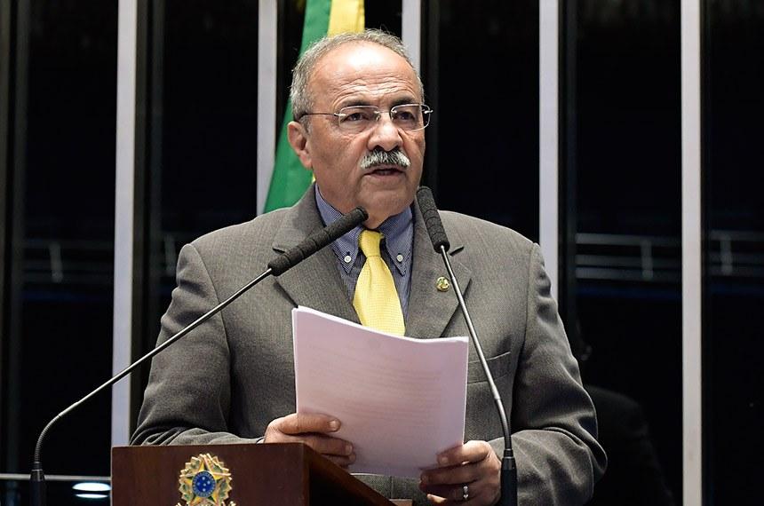 Plenário do Senado Federal durante sessão deliberativa ordinária.   Em discurso, à tribuna, senador Chico Rodrigues (DEM-RR).  Foto: Roque de Sá/Agência Senado