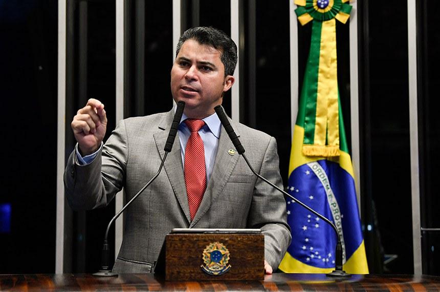 Plenário do Senado Federal durante sessão não deliberativa.   Em discurso, à tribuna, senador Marcos Rogério (DEM-RO).   Foto: Jefferson Rudy/Agência Senado