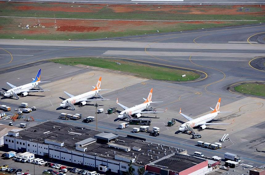 Vista aérea do Aeroporto Internacional de Brasília - Juscelino Kubitschek.  Foto: Geraldo Magela/Agência Senado