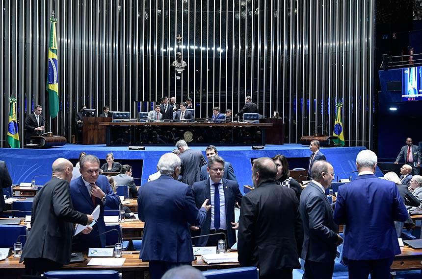Plenário do Senado Federal durante sessão deliberativa ordinária. Ordem do dia.   Em pronunciamento, à tribuna, senador Rodrigo Pacheco (DEM-MG).  Foto: Waldemir Barreto/Agência Senado