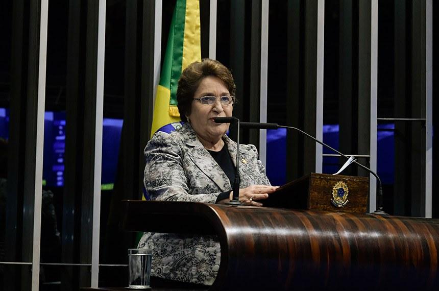 A senadora cobrou iniciativas para fortalecimento da agricultura familiar, instrumento para a erradicação da pobreza, para fixação do homem no meio rural e para a segurança alimentar
