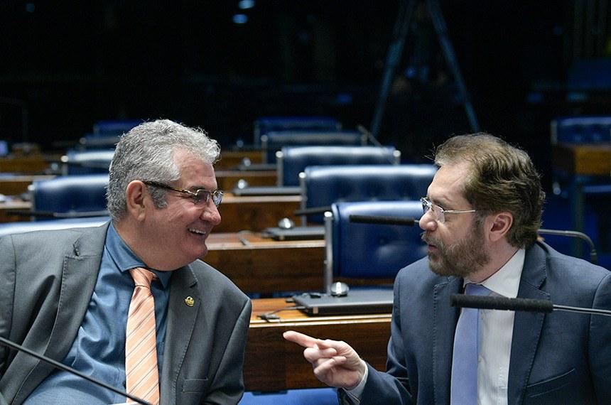 Plenário do Senado Federal durante sessão não deliberativa.   Bancada: senador Angelo Coronel (PSD-BA); senador Plínio Valério (PSDB-AM).  Foto: Roque de Sá/Agência Senado