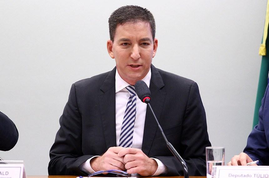 CDHM - Comissão de Direitos Humanos e Minorias - 25/06/2019  Audiência pública sobre a atuação de juízes e procuradores brasileiros no âmbito da Operação Lava Jato. Jornalista fundador do jornal The Intercept, Glenn Greenwald