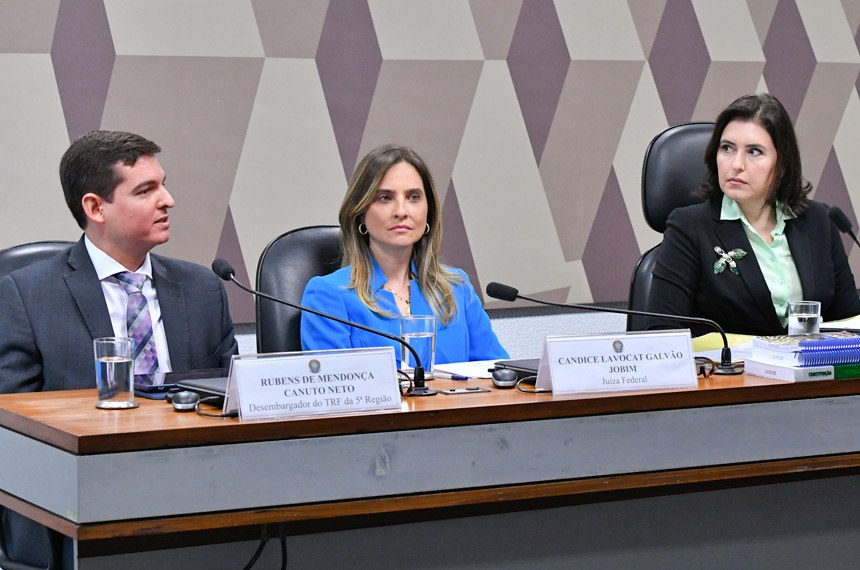 Comissão de Constituição, Justiça e Cidadania (CCJ) realiza sabatina de 3 indicados para o Conselho Nacional de Justiça (CNJ).   Foto: Geraldo Magela/Agência Senado