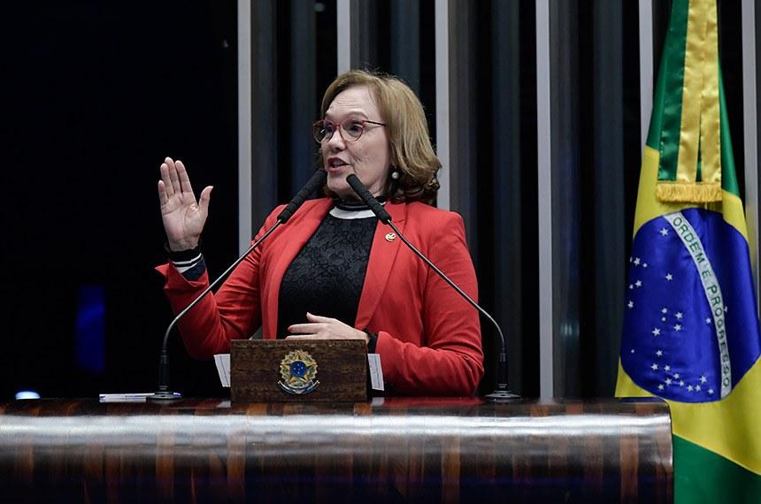 Plenário do Senado Federal durante sessão deliberativa ordinária.   À tribuna, em discurso, senadora Zenaide Maia (Pros-RN).  Foto: Waldemir Barreto/Agência Senado