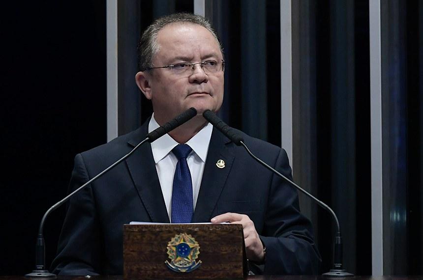 Plenário do Senado Federal durante sessão deliberativa ordinária.   Em pronunciamento, à tribuna,  senador Zequinha Marinho (PSC-PA).  Foto: Waldemir Barreto/Agência Senado