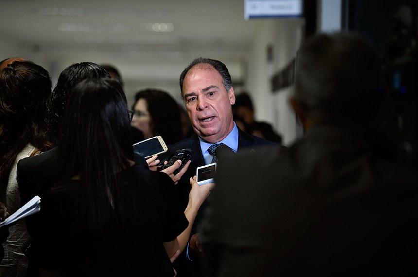 Senador Fernando Bezerra Coelho (MDB-PE) concede entrevista.  Foto: Edilson Rodrigues/Agência Senado