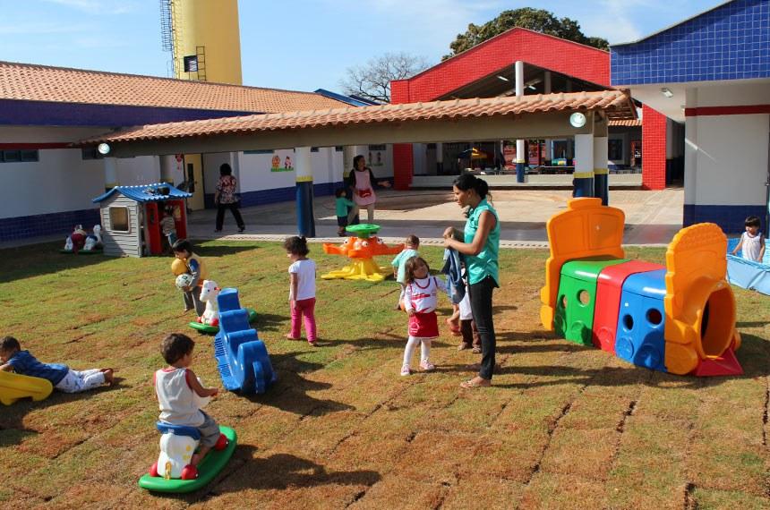 19.08.2013 CMEI de Ceres (GO)  Centro Municipal de Educação Infantil (Cmei) Zilda Ivone, em Ceres, Goiás.     Foto: Divulgação / outubro 2013