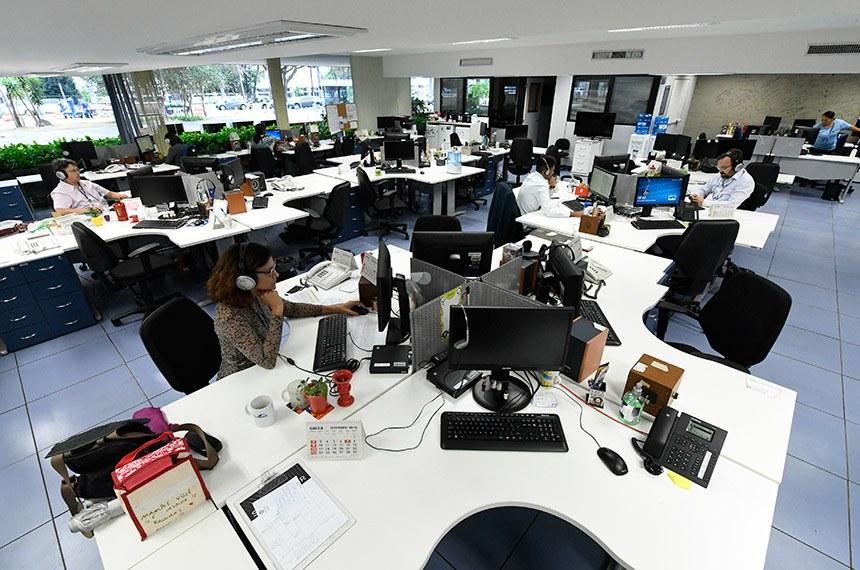 Redação da Rádio Senado após reforma.  Foto: Edilson Rodrigues/Agência Senado