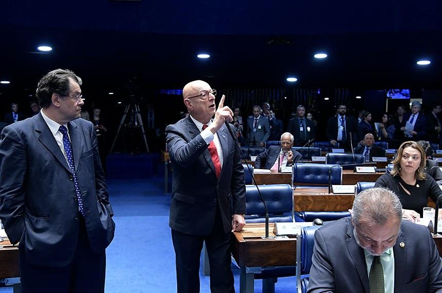 Plenário do Senado Federal durante sessão deliberativa ordinária. Ordem do dia.  Em pronunciamento, à bancada, senador Esperidião Amin (PP-SC).  Foto: Waldemir Barreto/Agência Senado