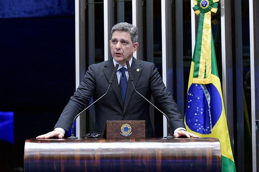 Plenário do Senado Federal durante sessão deliberativa ordinária.   Em discurso, senador Rogério Carvalho Santos (PT-SE).  Foto: Waldemir Barreto/Agência Senado