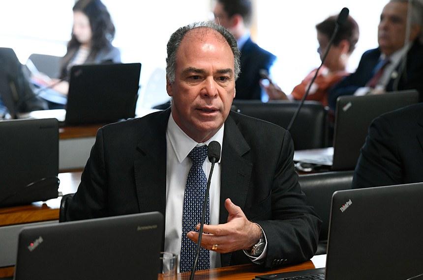 Comissão de Assuntos Econômicos (CAE) realiza reunião para apreciação de autorização de empréstimo para Pernambuco.  Em pronunciamento, senador Fernando Bezerra Coelho (MDB-PE).  Foto: Marcos Oliveira/Agência Senado