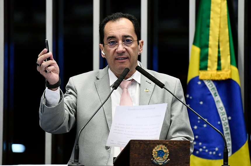 Plenário do Senado Federal durante sessão não deliberativa.   Em discurso, à tribuna, senador Jorge Kajuru (Patriota-GO).  Foto: Edilson Rodrigues/Agência Senado