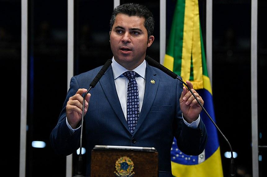 Plenário do Senado Federal durante sessão deliberativa ordinária.   Em discurso, à tribuna, senador Marcos Rogério (DEM-RO).  Foto: Jefferson Rudy/Agência Senado
