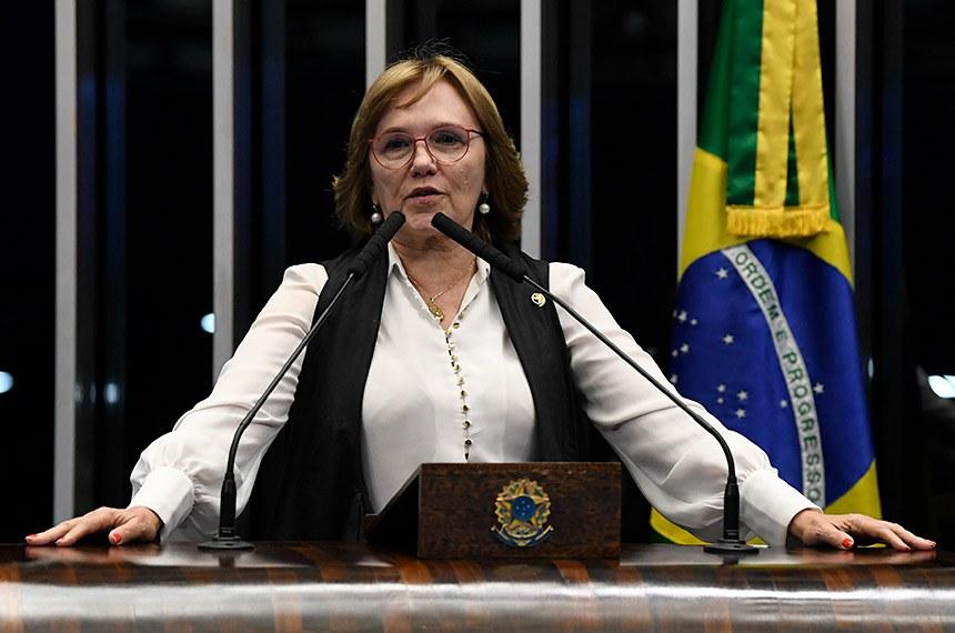 Plenário do Senado Federal durante sessão não deliberativa.   Em discurso, à tribuna, senadora Zenaide Maia (Pros-RN).  Foto: Jefferson Rudy/Agência Senado