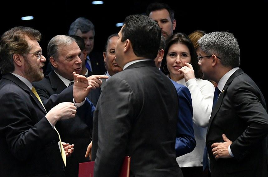 Plenário do Senado Federal durante sessão não deliberativa. \r\rPresidente do Senado, senador Davi Alcolumbre (DEM-AP), chega ao Plenário para dar início à sessão. \r\rParticipam: \rsenador Alessandro Vieira (Cidadania-SE); \rsenador Plínio Valério (PSDB-AM); \rsenador Tasso Jereissati (PSDB-CE); \rsenadora Simone Tebet (MDB-MS).\r\rFoto: Jefferson Rudy/Agência Senado