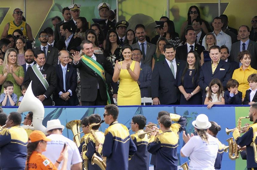 Desfile de 7 de setembro na Esplanada dos Ministérios para comemorar os 196 anos da Proclamação da Independência.    Foto: Roque de Sá/Agência Senado