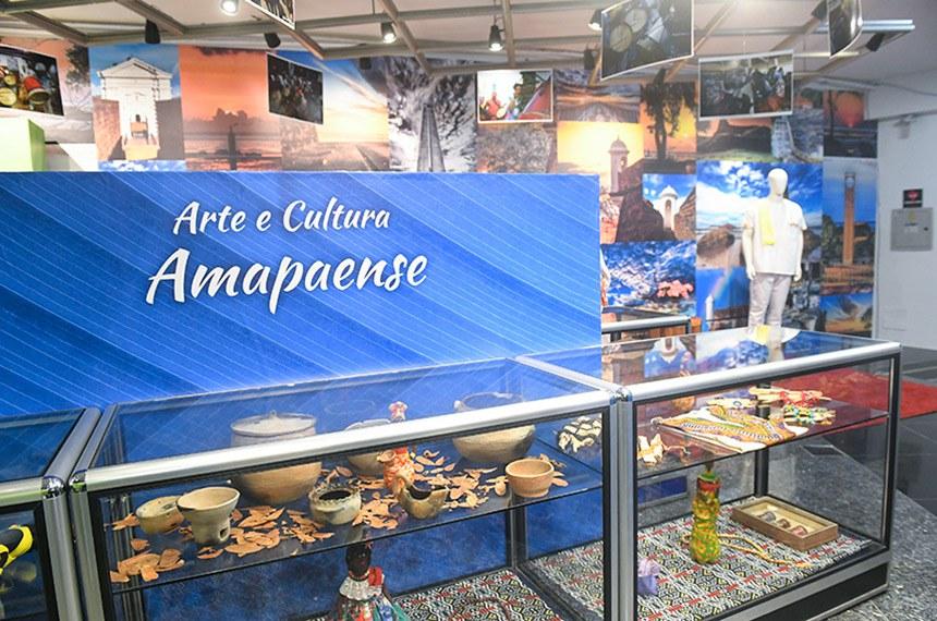 """Exposição """"Amapá - Onde os hemisférios se encontram - 76 anos de criação do território"""", no Espaço Ivandro Cunha Lima e Senado Galeria.    Foto: Jane de Araújo/Agência Senado"""