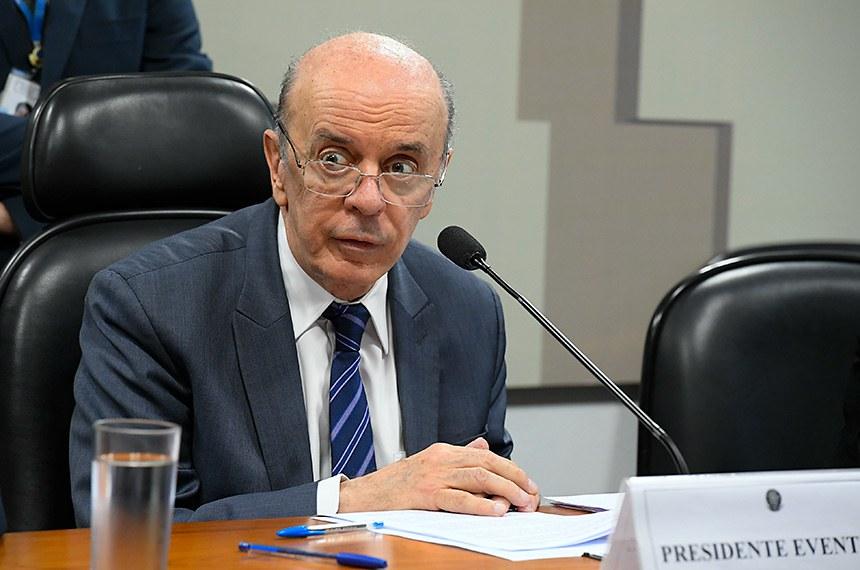 Comissão Mista da Medida Provisória (CMMPV) n° 893 de 2019, que transforma o Conselho de Controle de Atividades Financeiras (Coaf) na Unidade de Inteligência Financeira, realiza reunião para instalação e eleição de presidente e vice.   Resultado:  Instalada a comissão, são eleitos presidente e vice-presidente, respectivamente, o senador José Serra (PSDB-SP) e a deputada Bia Kicis (PSL-DF), e designado relator o deputado Reinhold Stephanes Junior (PSD-PR).   À mesa, presidente da CMMPV 893/2019, senador José Serra (PSDB-SP).  Foto: Roque de Sá/Agência Senado