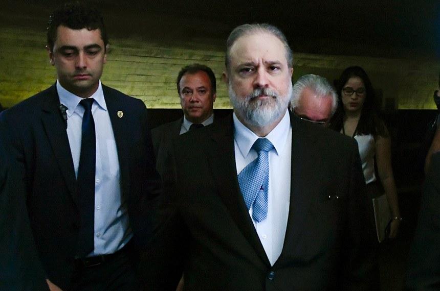 Em destaque, subprocurador-geral Augusto Aras, indicado pelo presidente Jair Bolsonaro para ser o novo chefe da Procuradoria Geral República (PGR).   Foto: Geraldo Magela/Agência Senado