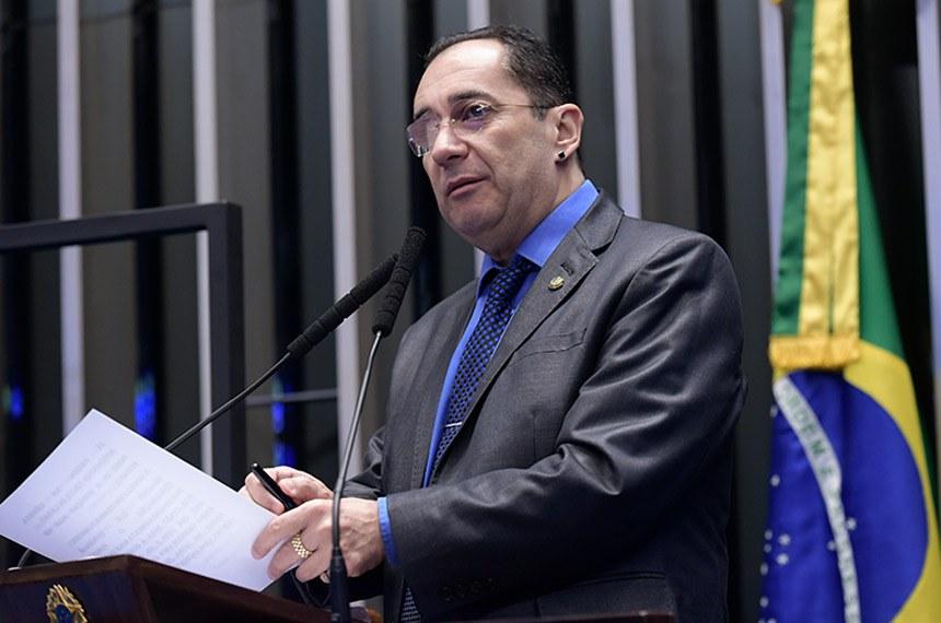 Plenário do Senado Federal durante sessão deliberativa ordinária.   Em discurso, à tribuna, senador Jorge Kajuru (Patriota-GO).  Foto: Waldemir Barreto/Agência Senado