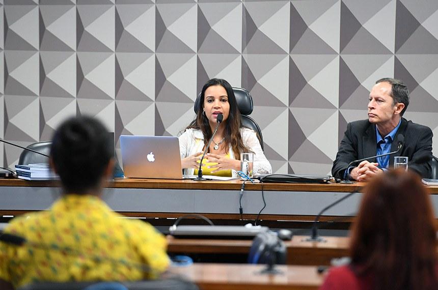 Participaram do workshop a professora Fabiana de Menezes Soares, da Faculdade de Direito da Universidade Federal de Minas Gerais (UFMG), e o consultor legislativo do Senado Marcus Peixoto