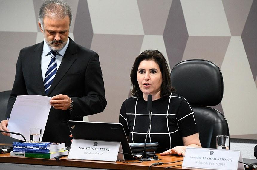 """Para a presidente da CCJ, Simone Tebet, adiamento da votação é """"um erro estratégico"""""""
