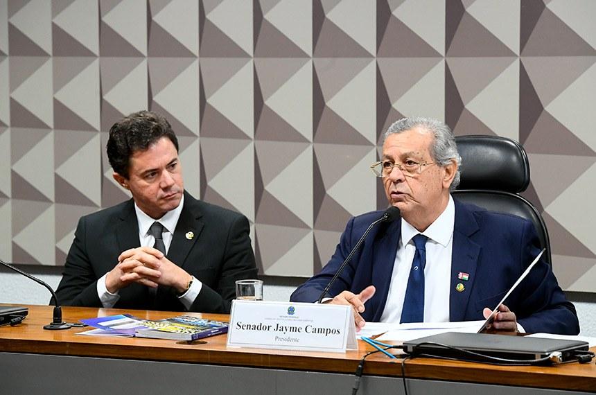 Os senadores Veneziano Vital do Rêgo e Jayme Campos presidirão conselho