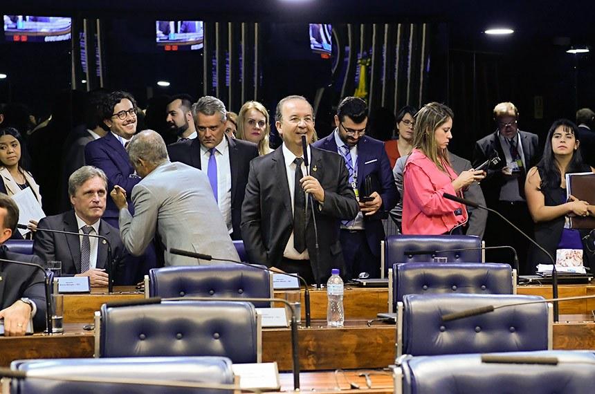 Plenário do Senado Federal durante sessão deliberativa ordinária. Ordem do dia.  Em pronunciamento, à bancada, senador Jorginho Mello (PL-SC).  Foto: Waldemir Barreto/Agência Senado